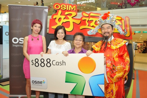 Once again, congratulations to Ms Ong and her family on winning our first $888 cash!