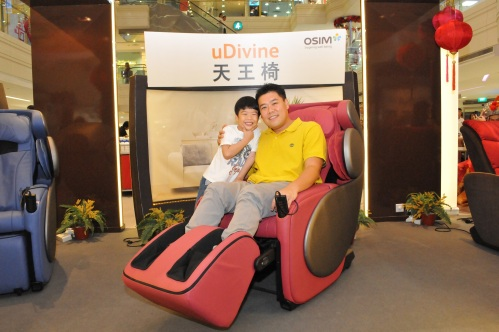Congrats Mr Wee Lee on winning $888 just by buying our uDivine massage chair